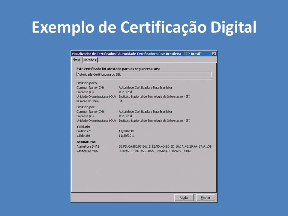 Exemplo de Certificação Digital