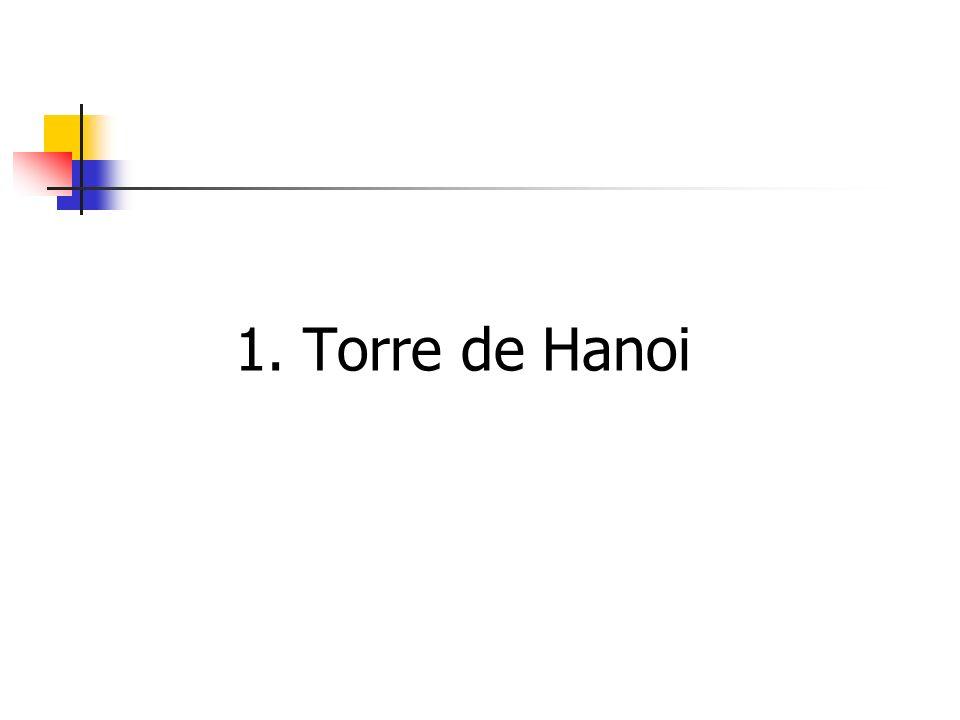 1. Torre de Hanoi