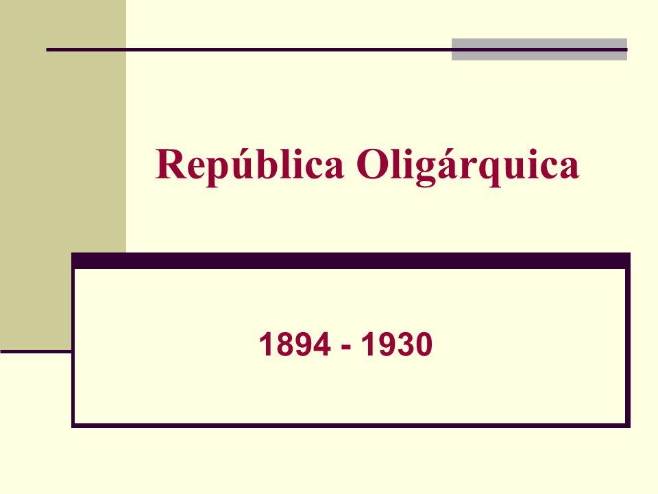 República Oligárquica 1894 - 1930