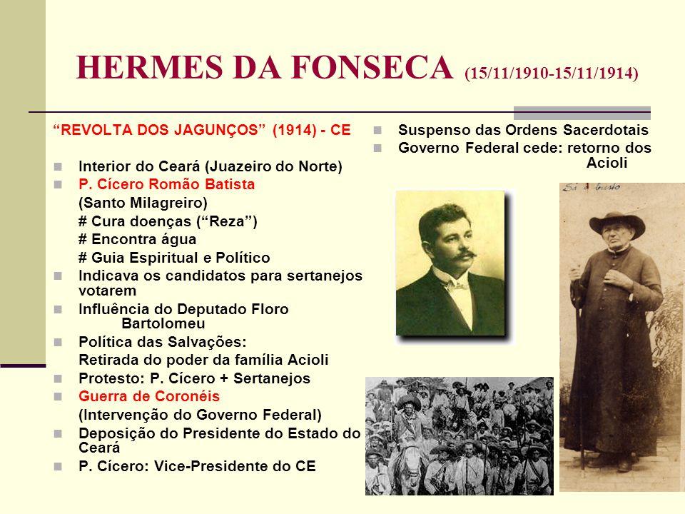 REVOLTA DOS JAGUNÇOS (1914) - CE Interior do Ceará (Juazeiro do Norte) P. Cícero Romão Batista (Santo Milagreiro) # Cura doenças (Reza) # Encontra águ