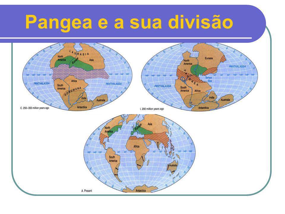 Pangea e a sua divisão