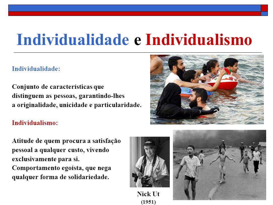 Individualidade e Individualismo Individualidade: Conjunto de características que distinguem as pessoas, garantindo-lhes a originalidade, unicidade e