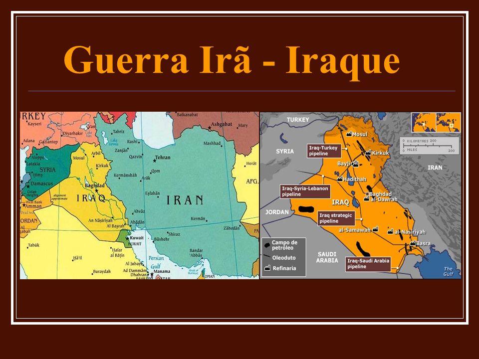 Guerra do Golfo Guerra do Golfo I: 06/1990 – 02/1991 # Guerra do Irã-Iraque # Petróleo # Armas químicas e biológicas # Kuwait: 1.