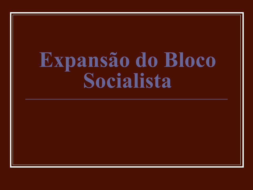 Expansão do Bloco Socialista
