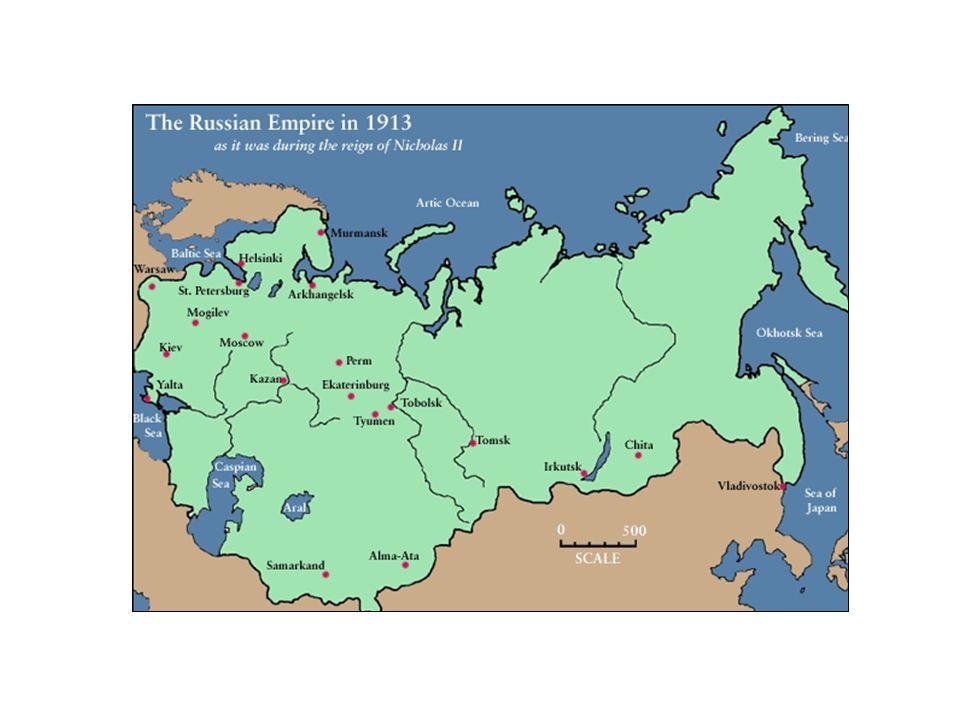 (Brasão do Império Russo) (Czar Nicolau II) O Império Russo