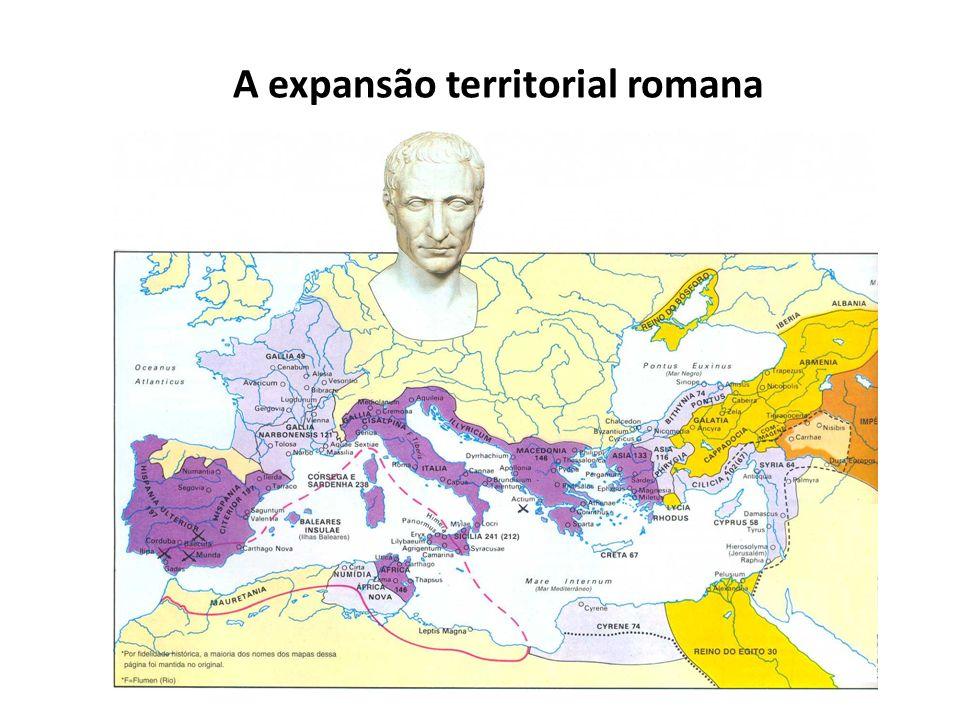 A expansão territorial romana