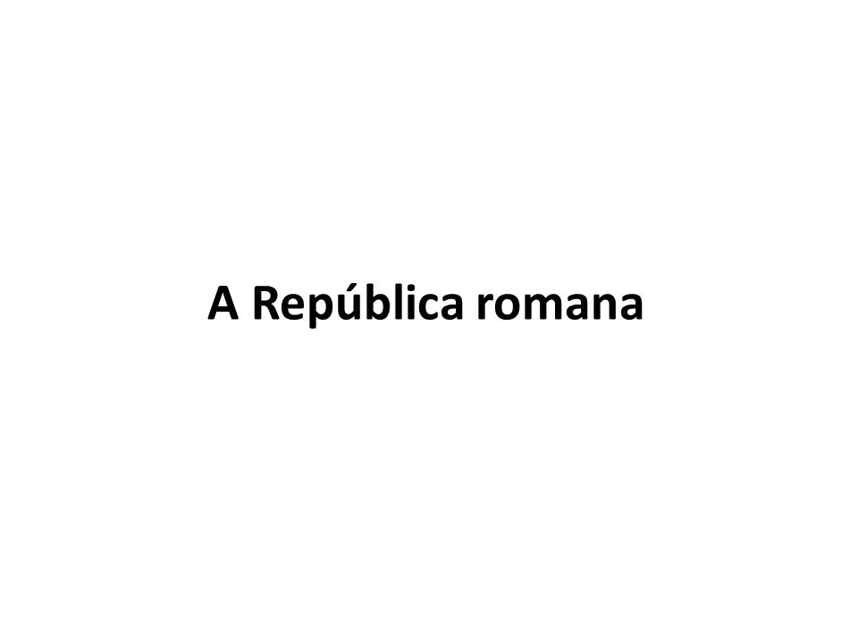 A República romana
