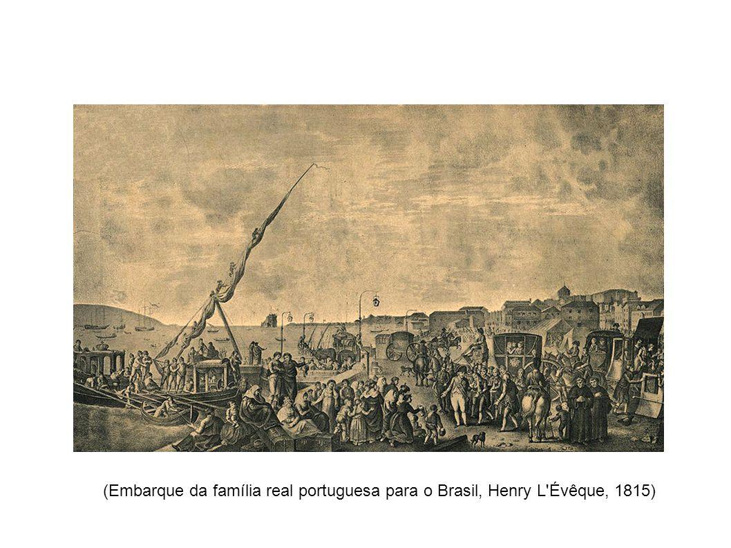 (Embarque da família real portuguesa para o Brasil, Henry L Évêque, 1815)