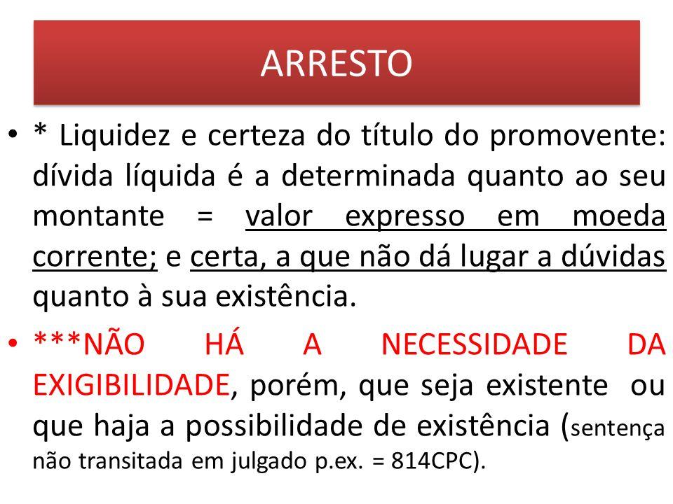 CAUÇÃO (art.826 a 838 CPC) 7.