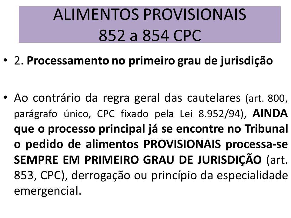 2. Processamento no primeiro grau de jurisdição Ao contrário da regra geral das cautelares (art. 800, parágrafo único, CPC fixado pela Lei 8.952/94),