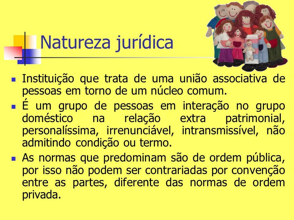 Natureza jurídica Instituição que trata de uma união associativa de pessoas em torno de um núcleo comum. É um grupo de pessoas em interação no grupo d