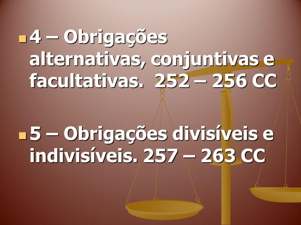CAPÍTULO VI Das Obrigações Solidárias Seção I Disposições Gerais Seção I Disposições Gerais 264 – 266 CC 264 – 266 CC 6 – Obrigações solidárias.