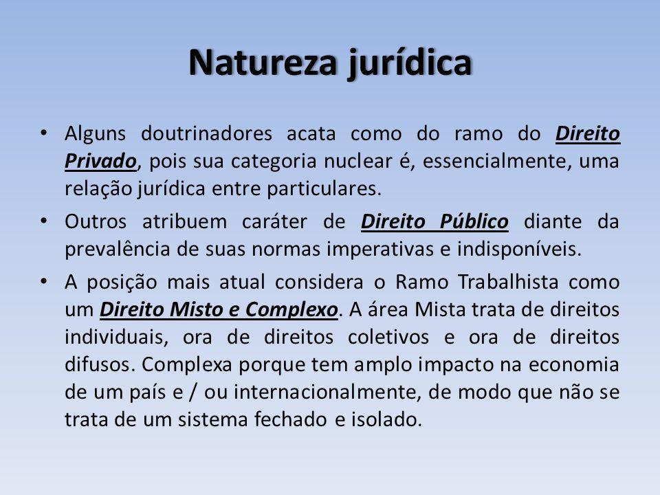 Natureza jurídicaNatureza jurídica Alguns doutrinadores acata como do ramo do Direito Privado, pois sua categoria nuclear é, essencialmente, uma relaç