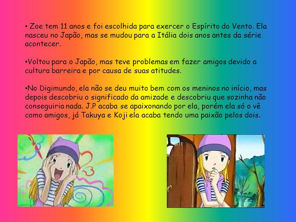 Zoe tem 11 anos e foi escolhida para exercer o Espírito do Vento. Ela nasceu no Japão, mas se mudou para a Itália dois anos antes da série acontecer.