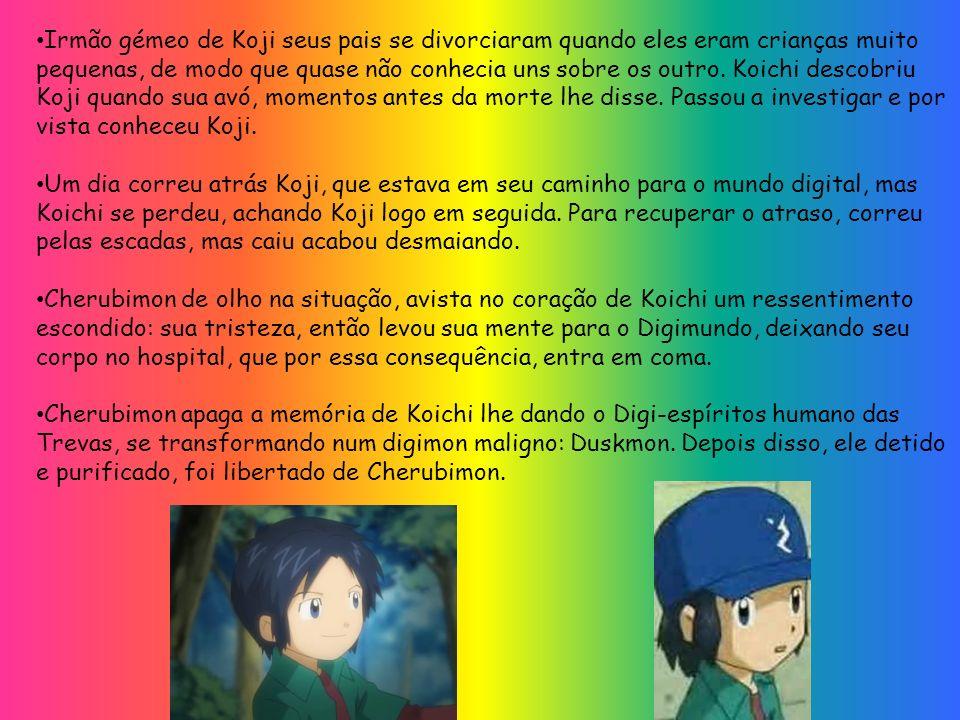 Irmão gémeo de Koji seus pais se divorciaram quando eles eram crianças muito pequenas, de modo que quase não conhecia uns sobre os outro. Koichi desco