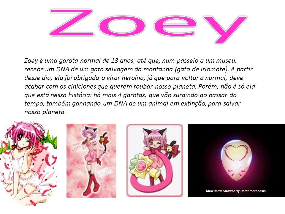 Zoey é uma garota normal de 13 anos, até que, num passeio a um museu, recebe um DNA de um gato selvagem da montanha (gato de Iriomote). A partir desse