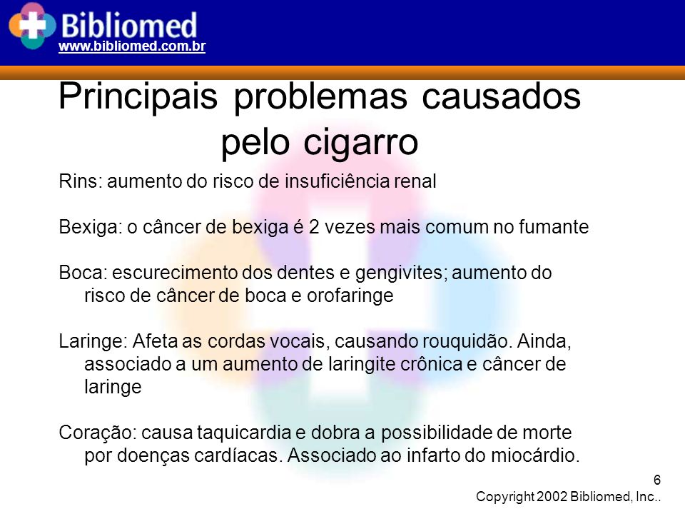 www.bibliomed.com.br 7 Copyright 2002 Bibliomed, Inc..