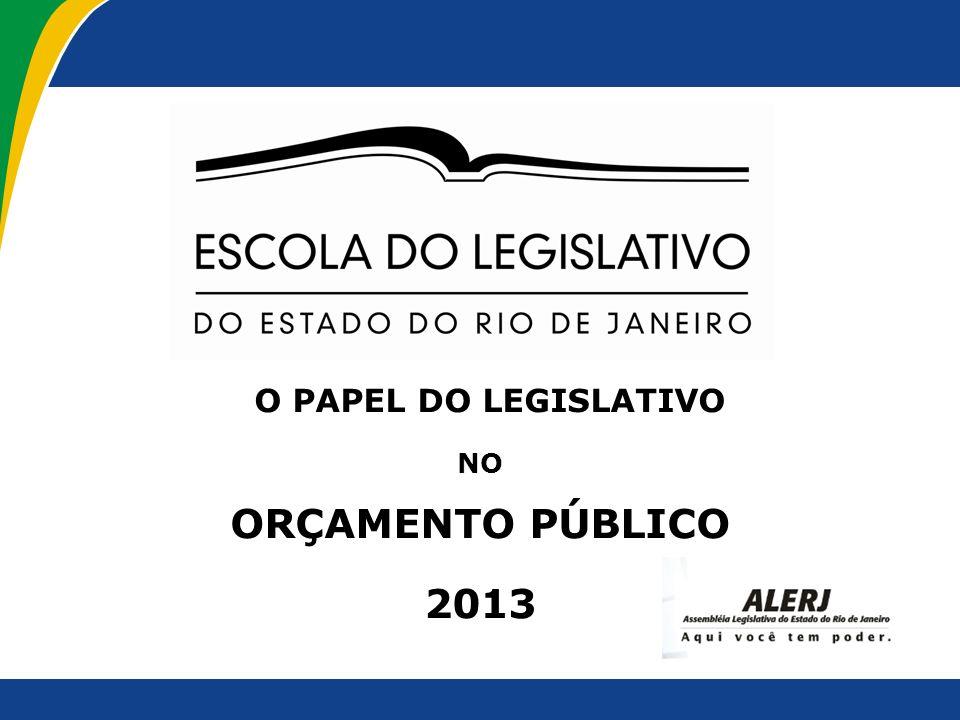 O PAPEL DO LEGISLATIVO NO ORÇAMENTO PÚBLICO 2013