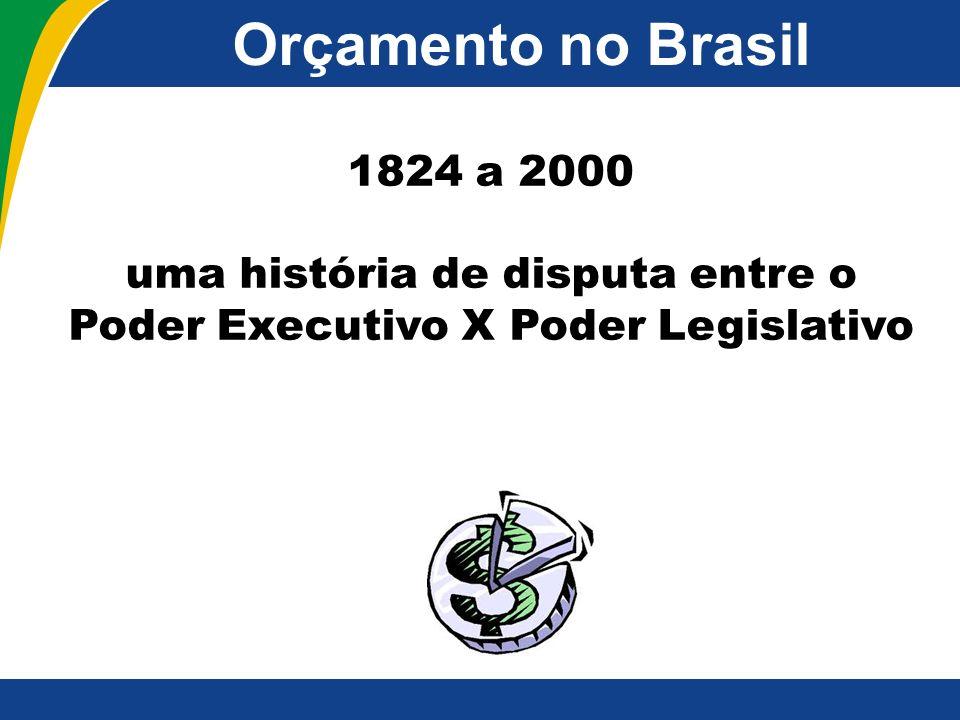 Orçamento no Brasil 1824 a 2000 uma história de disputa entre o Poder Executivo X Poder Legislativo