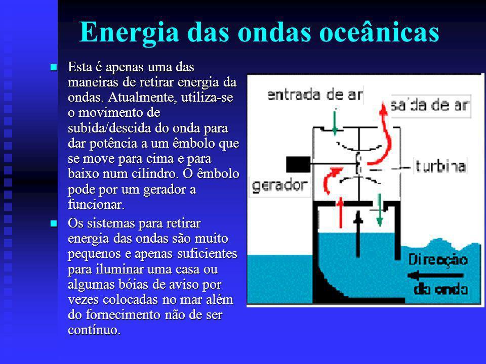 Esta é apenas uma das maneiras de retirar energia da ondas.