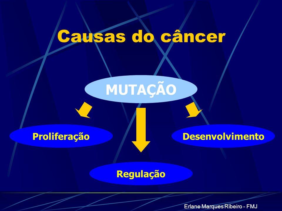 Erlane Marques Ribeiro - FMJ Desenvolvimento MUTAÇÃO Causas do câncer Regulação Proliferação