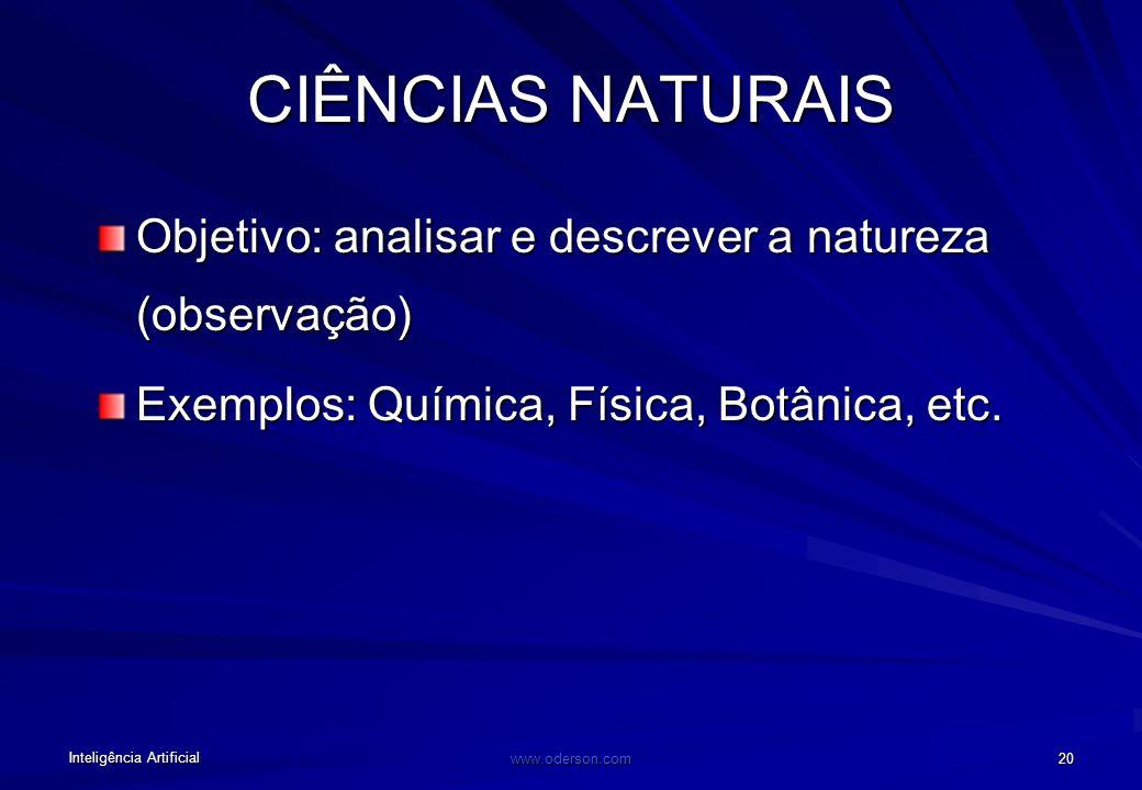 Inteligência Artificial www.oderson.com 19 Penso que a suposição de que propriedades bioquímicas do cérebro possam ser responsáveis por crenças e pens