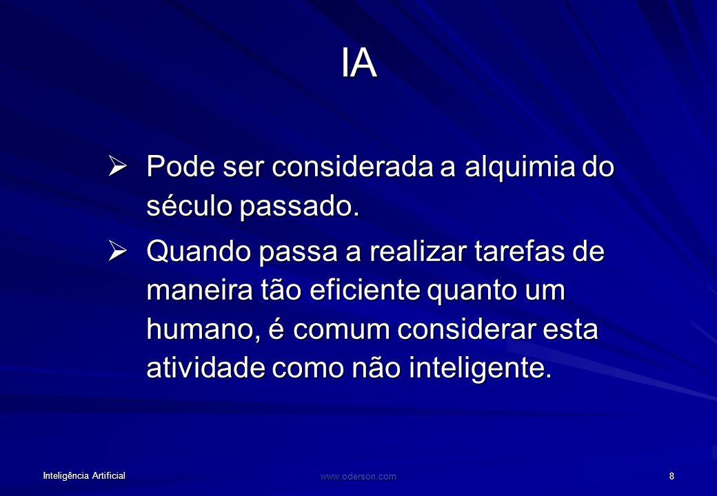 Inteligência Artificial www.oderson.com 7 Os defensores da IA não cometem um erro ao descartar o livre-arbítrio como ilusão? RQuando se diz que usei m