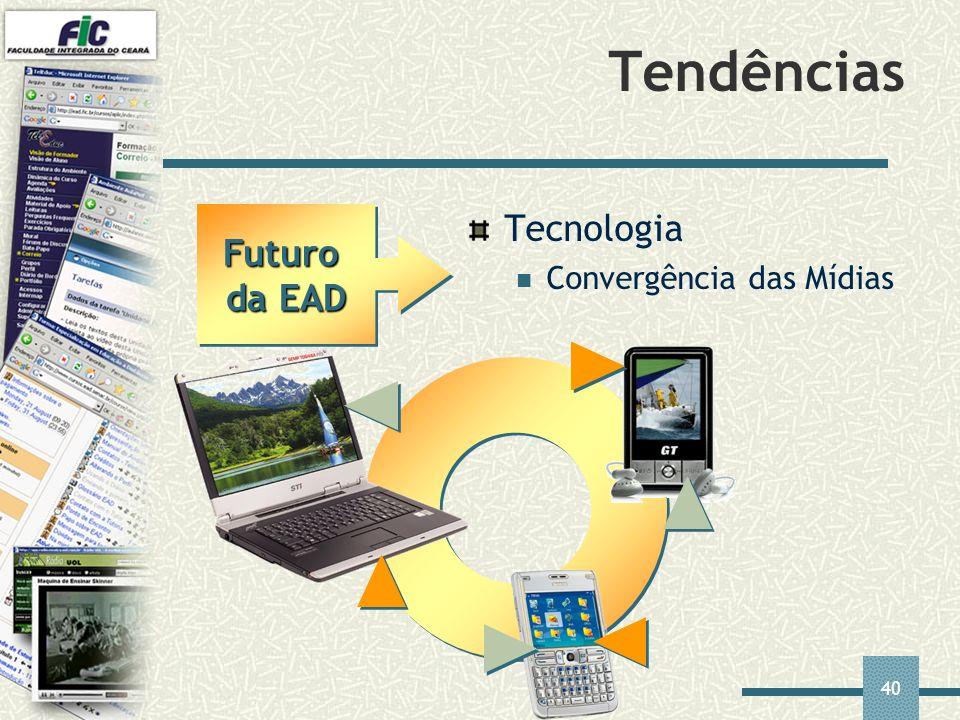 40 Tendências Tecnologia Convergência das Mídias Futuro da EAD