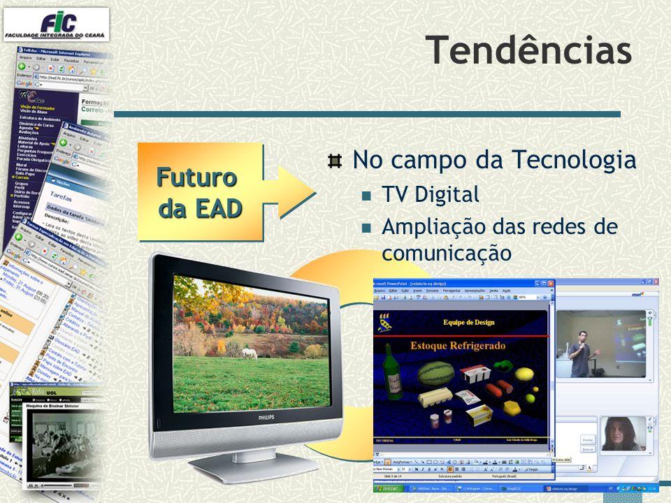 41 Tendências No campo da Tecnologia TV Digital Ampliação das redes de comunicação Futuro da EAD