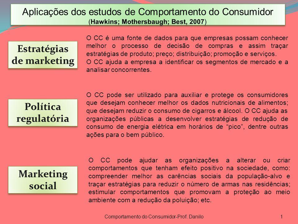 Comportamento do Consumidor-Prof. Danilo1 O CC pode ser utilizado para auxiliar e protege os consumidores que desejam conhecer melhor os dados nutrici