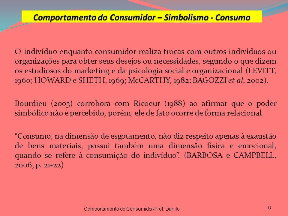 O indivíduo enquanto consumidor realiza trocas com outros indivíduos ou organizações para obter seus desejos ou necessidades, segundo o que dizem os e