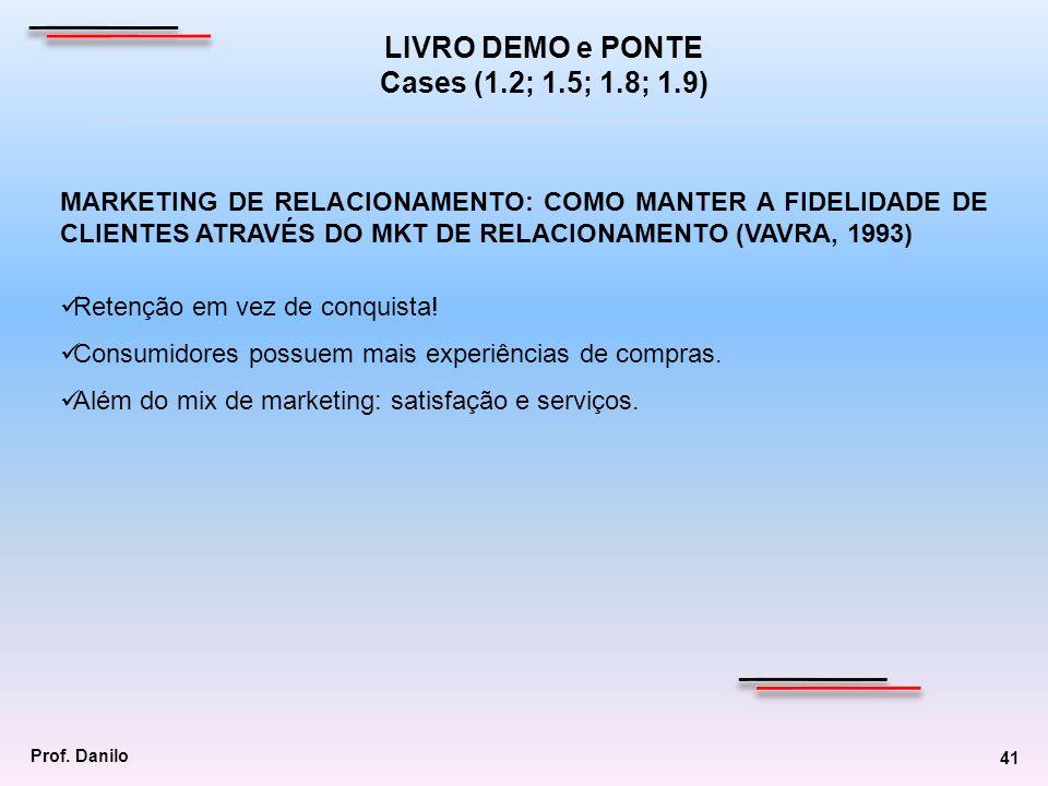 MARKETING DE RELACIONAMENTO: COMO MANTER A FIDELIDADE DE CLIENTES ATRAVÉS DO MKT DE RELACIONAMENTO (VAVRA, 1993) Retenção em vez de conquista! Consumi