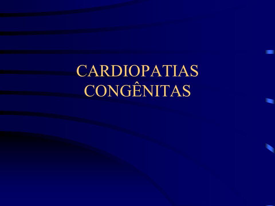 Manifestações Clínicas ICC grave intratável; Infecções respiratórias; RX de tórax com aumento da trama vascular pulmonar.