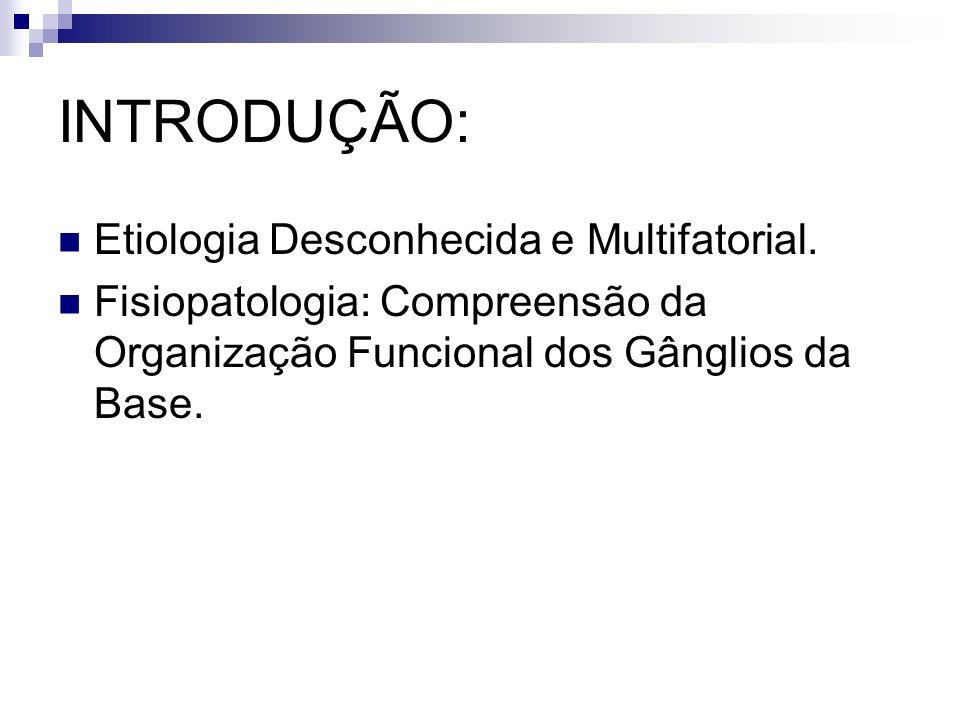 Organização Anatómo-Funcional dos Gânglios da Base (GB) Sistema Extrapiramidal (SE): Referente aos GB e a um grupo de núcleos no tronco cerebral e diencéfalo que se interconectam.
