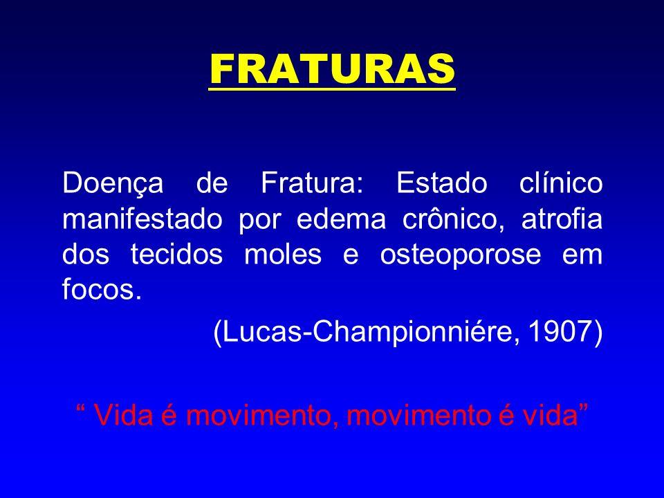 FRATURAS Etiologia = sobrecarga Texto 10 a 20 x o peso corporal Protetores, capacete, coxins Posição muscular, forças internas Fatores externos