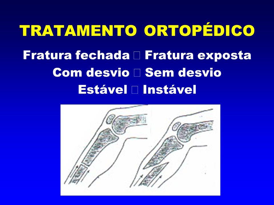4 princípios: - Redução anatômica - Estabilidade - Preservação do suprimento sanguíneo - Mobilização precoce ativa e carga no membro indolor TRATAMENTO ORTOPÉDICO