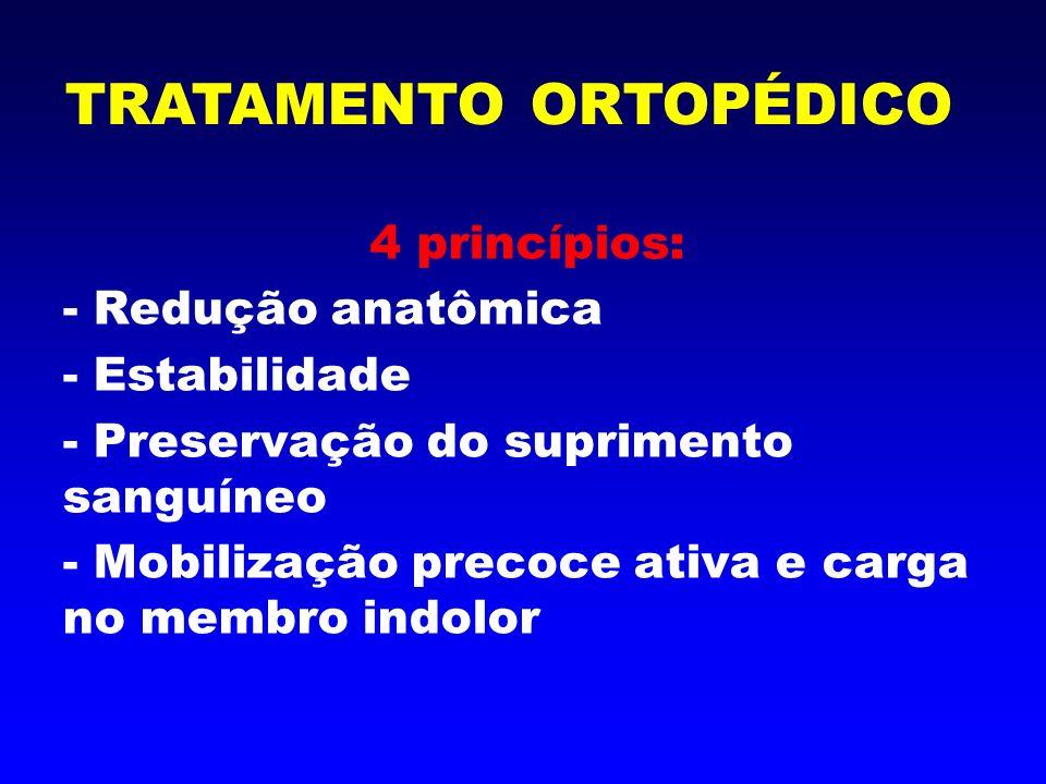 1- Redução - fechada ( incruenta ) - aberta (cirúrgica) TRATAMENTO ORTOPÉDICO