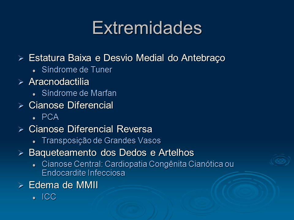 Pele e Membranas Mucosas Cianose Central Cianose Central Cianose Periférica Cianose Periférica Lábio e Língua Lábio e Língua Pálido: Anemia Pálido: An