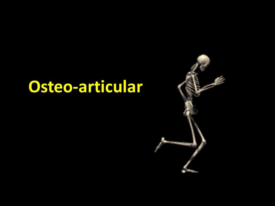 Artrite reumatóide Fase precoce tumefacção simétrica tecidos moles peri-articulares osteopénia peri-articular erosões sub-articulares Fase tardia Diminuição do espaço articular Luxações, sub- luxações Rarefacção óssea difusa Anquilose