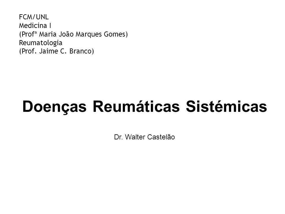 Síndrome de Sjögren Associações AR LES ESP DMTC Miosite Vasculite Cirrose biliar primária Tiroidite Hepatite crónica activa Crioglobulinémia mista Reumatologia FCM / UNL | HEM,SA
