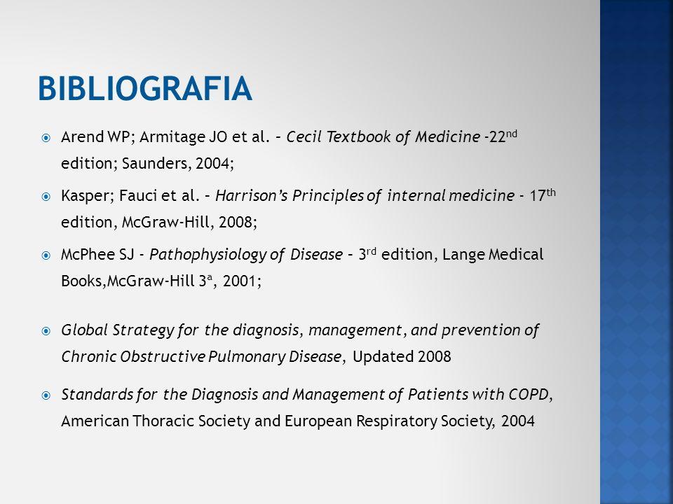 Arend WP; Armitage JO et al. – Cecil Textbook of Medicine -22 nd edition; Saunders, 2004; Kasper; Fauci et al. – Harrisons Principles of internal medi
