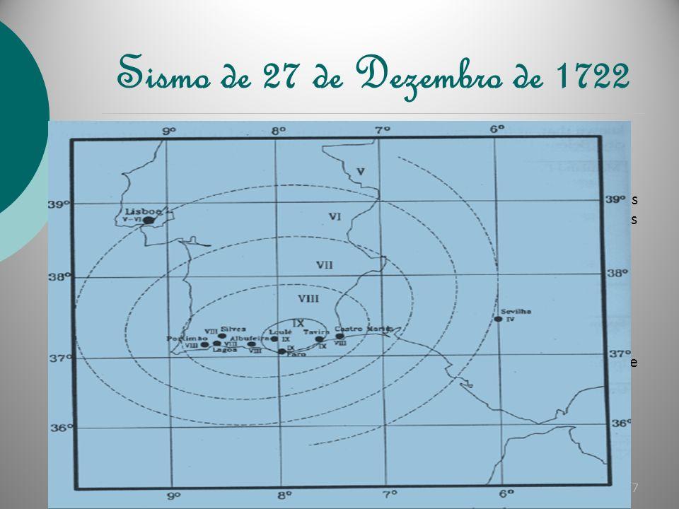 Sismo de 6 de Março de 1719 O sismo de 6 de Março de 1719, ocorreu em Portimão, Algarve, devido a uma falha que se encontra activa nesta mesma cidade.