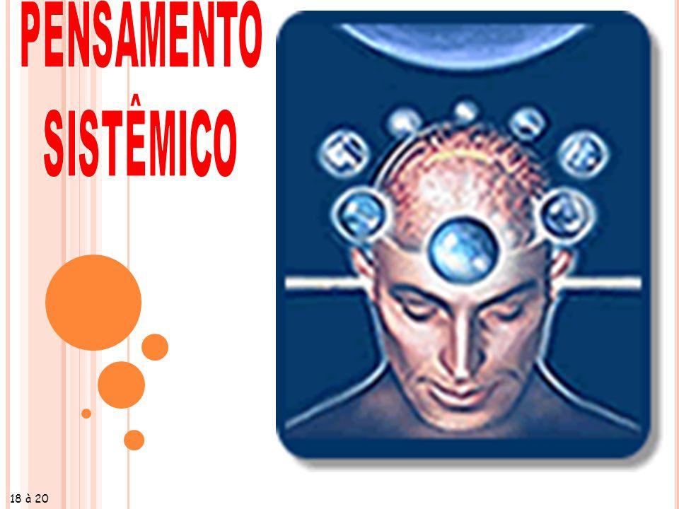 PENSAMENTO SISTÊMICO 2 (...) considera o processo ensino-aprendizagem dinâmico, abrangendo interações interpessoais, inter-grupais, presentes nos sistemas institucionais.
