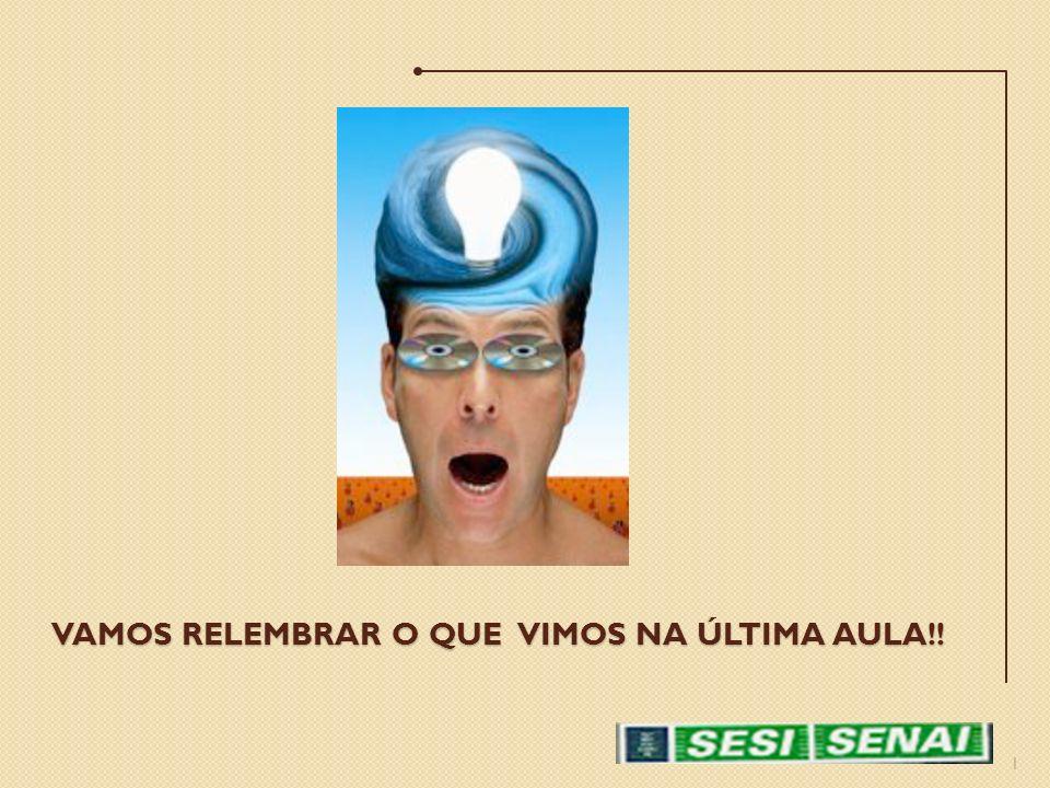 VAMOS RELEMBRAR O QUE VIMOS NA ÚLTIMA AULA!! 1
