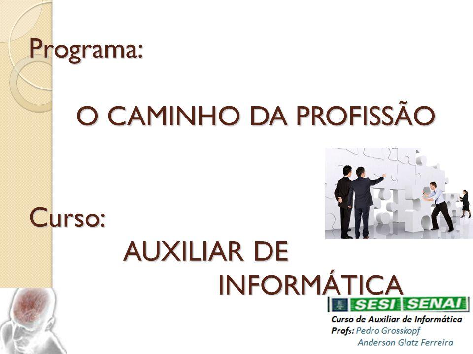 PROFESSORES: PEDRO GROSSKOPF.Email: dindo.31@hotmail.com Fone: Cel.41- 9800-1141 Fixo.