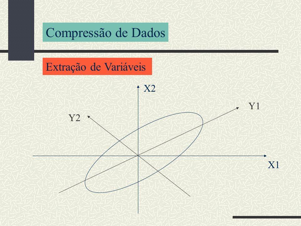 Compressão de Dados Extração de Variáveis X1 X2 Y1 Y2