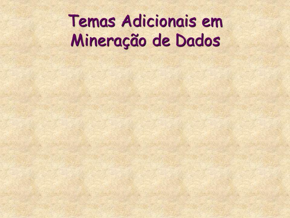 Temas Adicionais em Mineração de Dados