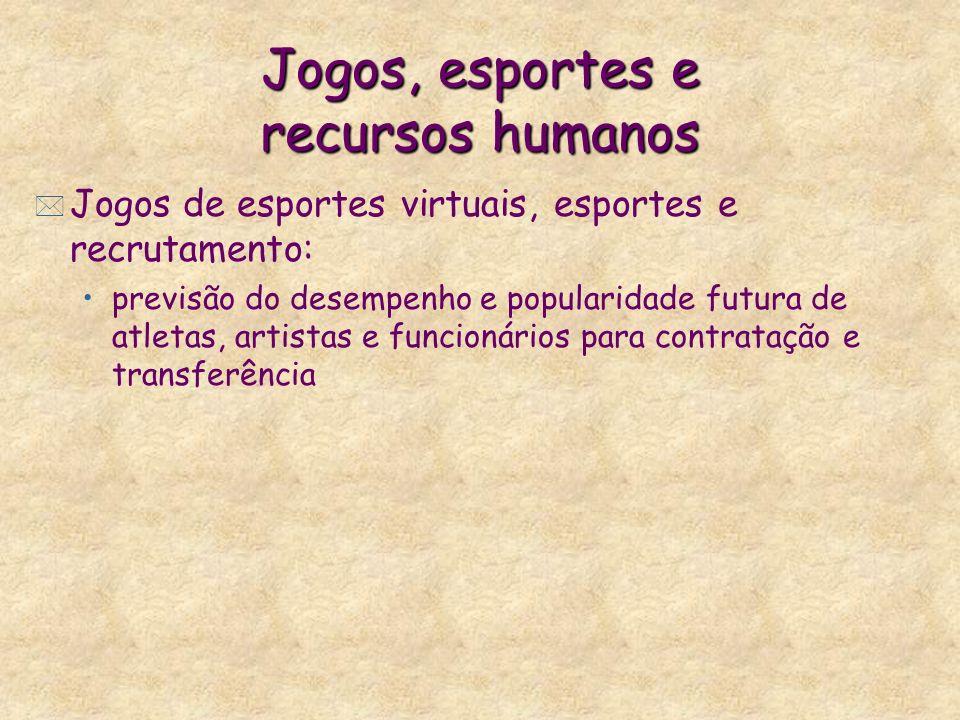 Jogos, esportes e recursos humanos * Jogos de esportes virtuais, esportes e recrutamento: previsão do desempenho e popularidade futura de atletas, art