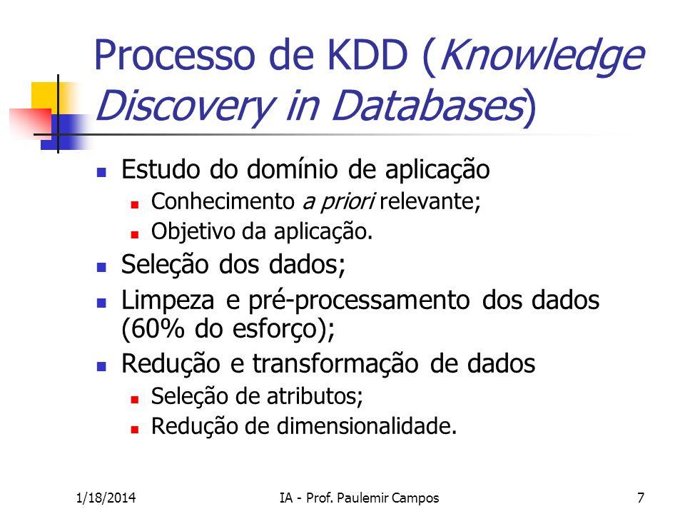 1/18/2014IA - Prof. Paulemir Campos48 Aplicações