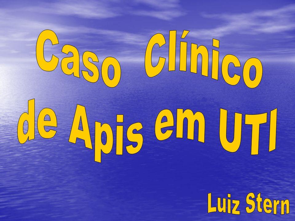 Caso paciente A.A.D.S 71 anos Caso paciente A.A.D.S 71 anos Masculino, aposentado, fiscal de ICM Masculino, aposentado, fiscal de ICM Deu entrada na UTI em 20/03/2008 Deu entrada na UTI em 20/03/2008 Com quadro clínico de câncer cerebral, estado febril, infecção urinária, flebite, pneumonia Com quadro clínico de câncer cerebral, estado febril, infecção urinária, flebite, pneumonia